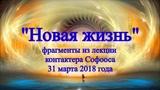 Новая Жизнь (фрагменты из лекции контактера Софооса) 31 марта 2018 года