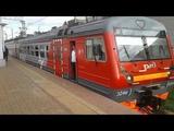 Электропоезд ЭД4М-0434(РЭКС; ТЧ-17 Нахабино) отправляется со станции