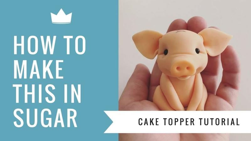 How to make a cute Pig Cake Topper Cake Decorating Tutorial
