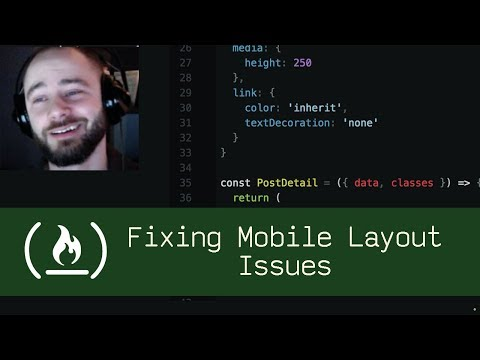 Fixing Mobile Layout Issues (P5D25) - Live Coding with Jesse