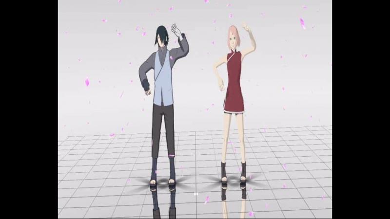 Sasuke Uchiha and Sakura Haruno [MMD] - Try To Be A Girl