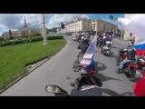 Впервые в мотопробеге в честь дня России 12.06.18