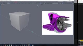 Blender 2.8 Beta Live Stream Snail Ship
