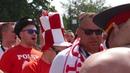 Польские болельщики на Манежной площади