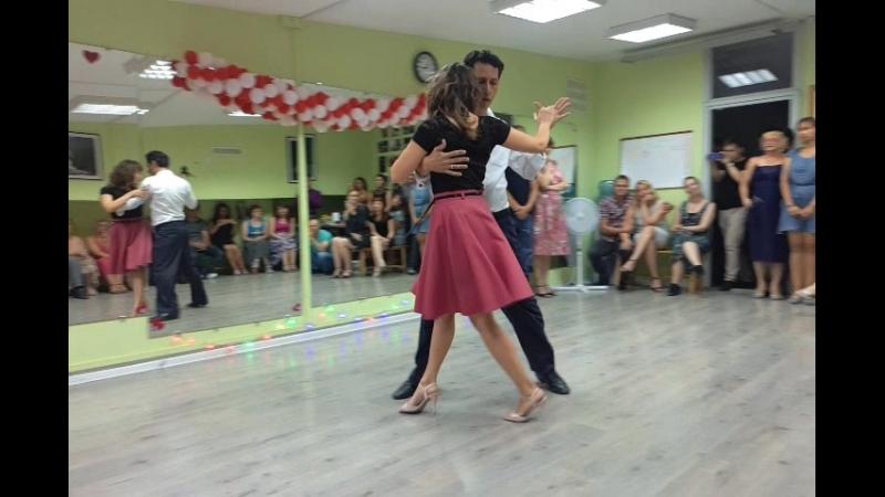Александр и Анастасия Драда Салазар. День рождение школы танцев Авенида
