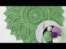 Lindas toalhas redondas em crochê para Inspiração (Crédito nas imagens)
