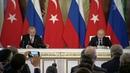 Президенты России иТурции сделали заявления поитогам встречи вКремле