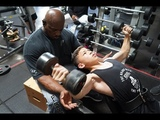 Road to the O 2018 - Tristyn Lee trains Chest with Shawn Rhoden &amp Stanimal 4 W Out