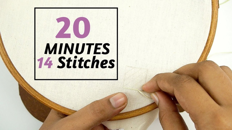 Learn 14 Hand Embroidery Filling Stitches in 20 Minutes by DIY Stitching