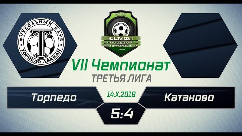VII Чемпионат ЮСМФЛ. Третья лига. Торпедо - Катаново 54, 14.10.2018 г. Обзор