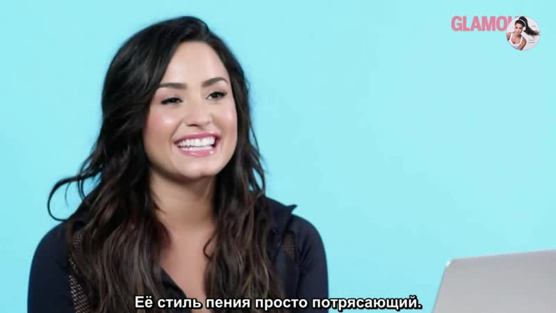 Demi Lovato Watches Fan Covers On YouTube [рус.суб.]