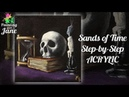 Sands of Time Step by Step Acrylic Painting on Canvas for Beginners