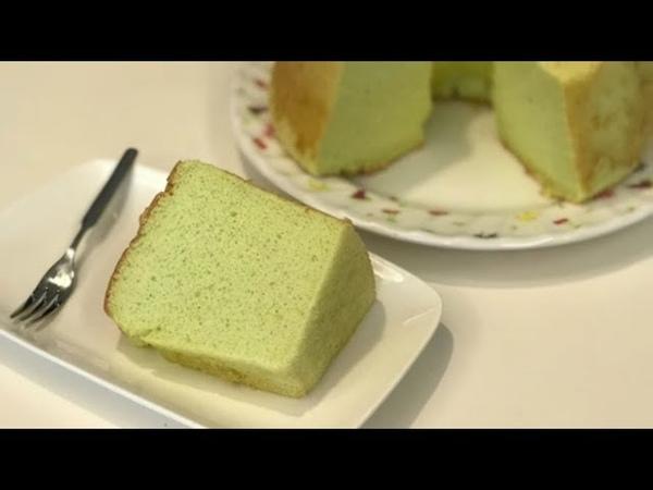 香兰戚风蛋糕/班兰戚风蛋糕 Pandan Chiffon Cake