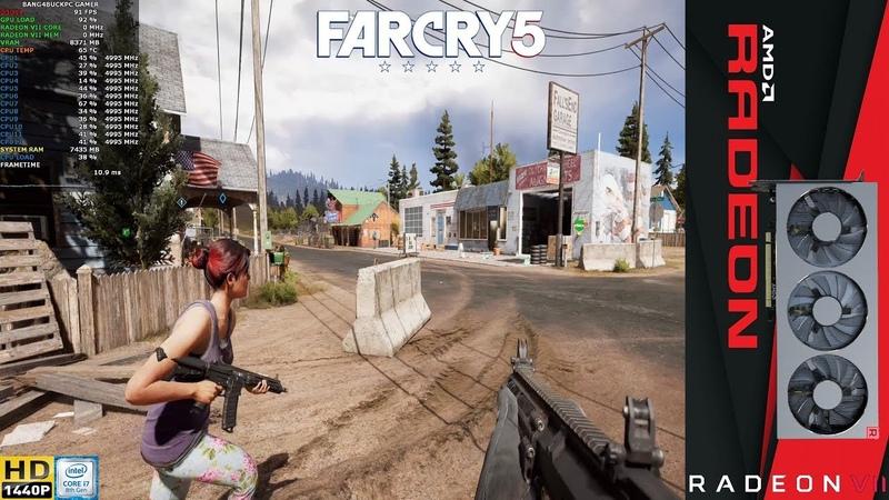Far Cry 5 Ultra Settings , HD Texture Pack ,2560x1440   Radeon VII   i7 8700K 5.GHz