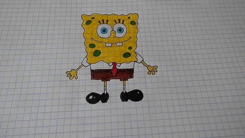 Как нарисовать Губку Боба Квадратные Штаны /5/Spongebob squarepants