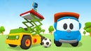 Elevador de tesoura Léo o caminhão curioso Animação infantil