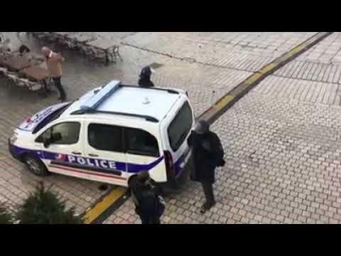 Jet de grenade à Dijon sur un manifestant par un policier qui sest cru en zone de guerre