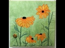 Thread Sketching in Action No 31 Floral Whimsy in Yellow Black Eyed Susan