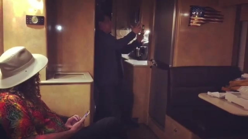 Weird Al's Bus (Ruben the Magician got his foot squished )