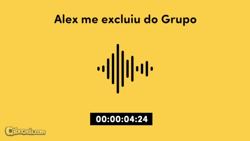 Alex me excluiu do grupo