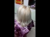 Выход из отросшей растяжки цвета в блонд