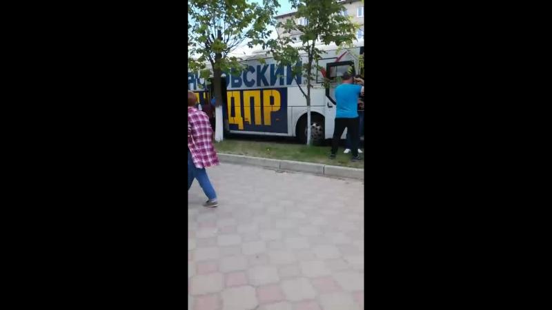 Live: автопоезд Жириновского в Вичуге