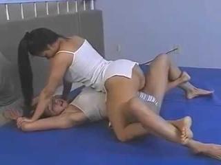 Charlene Rink vs Veronica Mills 2 Hot Female wrestling of Fitness Girls