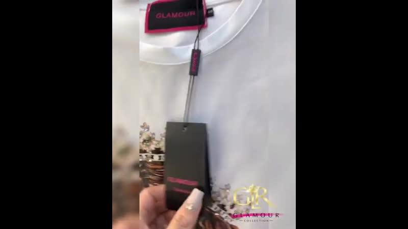 GLAMOUR 💖💖💖 бомбезная 💣 футболочка в крутом исполнении 💋 ₽ S M L ✅ 100% хлопок 👌