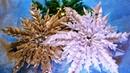 СНЕЖИНКА с ВОЛНИСТЫМИ лепестками, мастер класс, КАНЗАШИ / DIY Ribbon Flower Kanzashi