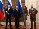 12 канал встретил в Правительстве России влюбленных в Омск лауреатов культурной премии