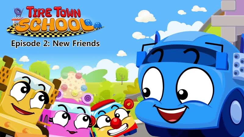 Tire Town School 2 - New Friends - Cars - Little Fox - Animated Stories for Kids