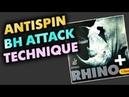 техника атаки антиспином DR NEUBAUER Rhino 1.5 mm на основании RED BLACK Kazak D Slowmotion