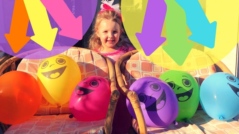 Learn Colors with Real Baby Mishel playing Baloons. Have Fun and Learn Colors with Baloons Baby Song