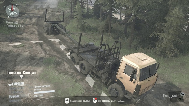 Spintires MudRunner Типичный лес 1-й сезон 1-я серия-Пьяный тракторист!
