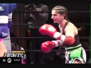 smiling while punching