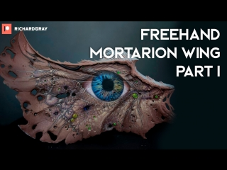 Richard Gray - Freehand Mortarion Wing. Part 1