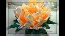 Бесплатный мастер класс ночник Пион в цветочном кашпо часть 1цветок