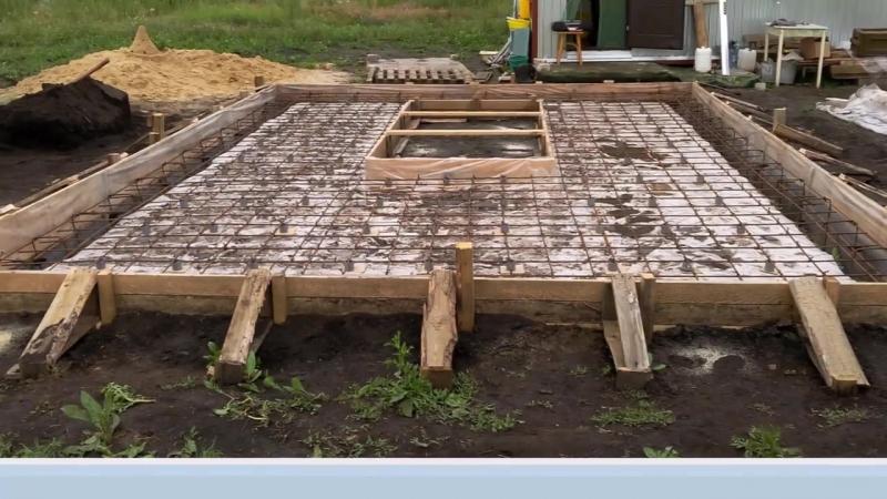 фундамент гаража
