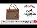 The Canvas Of The Hermes Herbag Zip Bag   Herms Bag Review