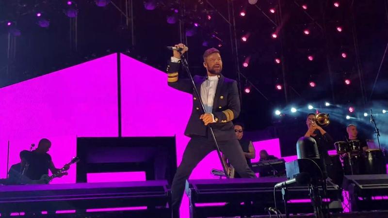 Ricky Martin concierto live en Cádiz - MARIA/LOVE YOU FOR A DAY 31.8.18 (primera fila/front row)4K
