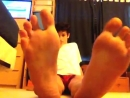 Young teen boy feet
