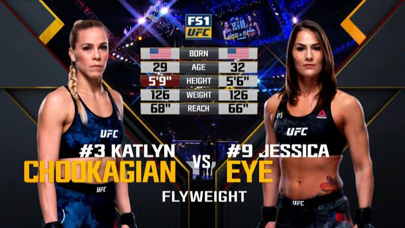 UFC 231 Кэтлин Чукагян Vs Джессика Ай