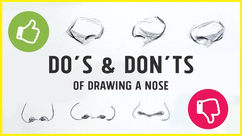 DO's DON'TS - How to Draw a Nose!【Tips, Tricks My Technique】
