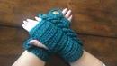 Guantes Tejidos en Crochet Diseño Trenzas