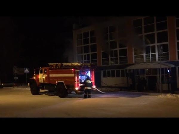 В Башкирии загорелось здание детской спортшколы