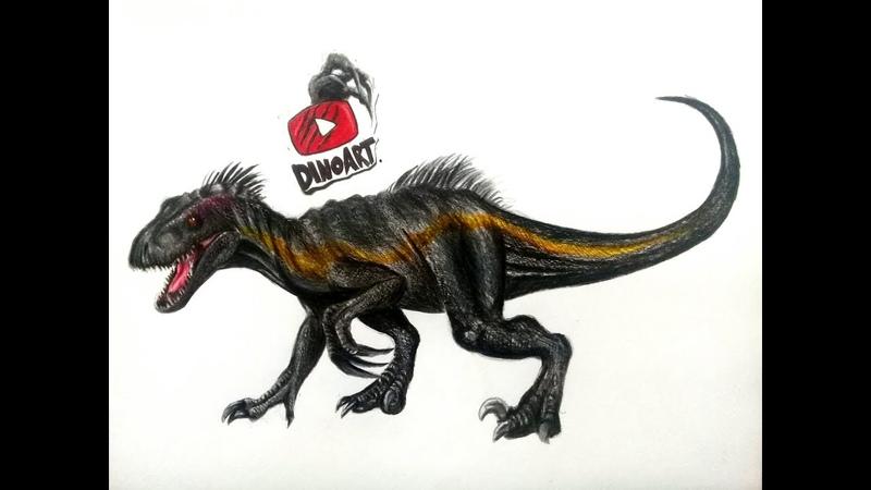 || Tutorial como dibujar al Indoraptor de Jurassic World Fallen Kingdom ||