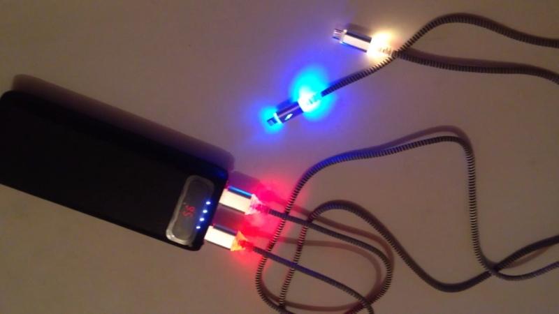 Светящийся кабель micro USB и iPhone 5-6-7-8