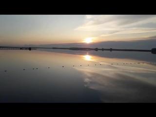 Озеро Карачи. Красивый закат солнца.Новосибирская область