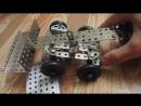 Поворот четырёх передних колёс с осью балансира от одной скобы