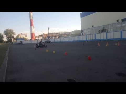 Gymkhana GP 2018 stage1 Кирилл Логвин Honda CB900 heat 2